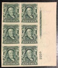 TDStamps: US Stamps Scott#314 Mint 5NH 1H OG Signed, P#Block of 6