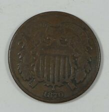 1870 Two-Cent Piece VERY GOOD 2-Cents