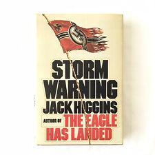 """""""STORM WARNING"""" by JACK HIGGINS Hardcover (1976) Political Espionage Thriller"""