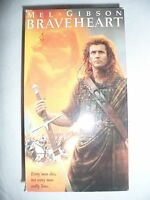 Braveheart (2 VHS Video Tape Set - Movie) Mel Gibson, Sophie Marceau Brave Heart