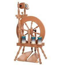 Ashford Traveler spinning wheel, single drive, double treadle, unfinished,