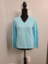 Lilly Pulitzer Light Blue Long Sleeve Pull Over Sweater Women's Small V-Neck.