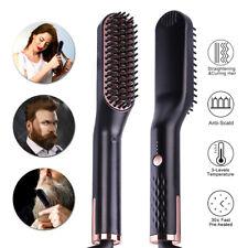 2 IN 1 Beard Straightening brush Hair Straightening Comb Negative Ion Emission