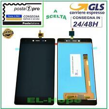 "DISPLAY LCD WIKO Fever 4G TOUCH SCREEN VETRO SCHERMO 5,2"" MONITOR NERO"