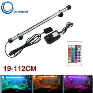 RGB Aquarium LED Bar Light Waterproof Fish Tank Light 19-112CM Underwater Lamp