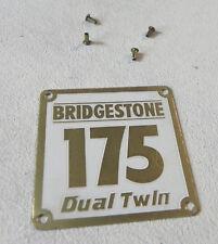 Bridgestone 175 DT   emblem   NEW   NOS with correct rivets
