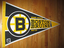 "1987-88 Adams Division BOSTON BRUINS Champs 30"" Pennant  RAY BOURQUE CAM NEELY"