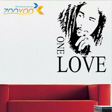 BOB MARLEY ONE LOVE ART GRAPHIC LARGE VINYL WALL MURAL STICKER DECAL HOME DECOR