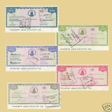 5 Zimbabwe 2003 cheques de viajero.