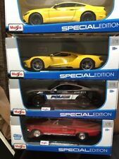 4 Maisto 1:18 Scale 2015 FORD MUSTANG GT,POLICE,1968 GT COBRA JET,2017 FORD GT