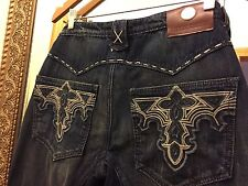 ANTIK DENIM Jeans Size 33 Western MC Queen Relax Fit Low-rise Flair  USA