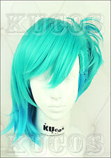 UTA NO PRINCE SAMA Mikaze Ai Acid Blue Cosplay Costume Party Wig + Free Wig Cap