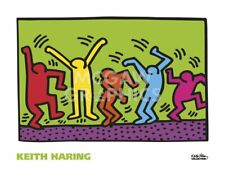 "HARING, KEITH - UNTITLED, 1987 (DANCE) - ART PRINT POSTER 26"" X 34"" (2696t)"