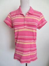 Polo Poloshirt TOMMY HILFIGER Polohemd L ca 36 kurzarm Streifen rosa pink /QR1