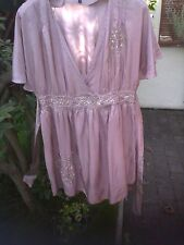 Pure Silk Signature Pale Copper Blouse sz14, extremely feminine.