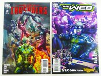DC Comics THE WEB #2 + MIGHTY CRUSADERS #2 Stanley LAU ARTGERM LOT Ships FREE!