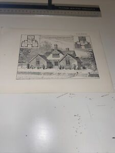 1904 Antique Architecture Maurice Adams Cottage Isolation Chalfont