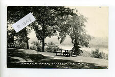 Stillwater MN Minn Washington Co RPPC real photo Pioneer Park picnic tables 1952
