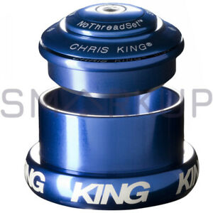 NEW CHRIS KING INSET 3 Threadless Headset Tapered 1 1/8 -1.5 44-49mm Navy
