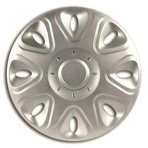 "Equip EWT020 13"" Power Wheel Trim Set 4 Pieces Silver 13 Inch Hub Caps Covers"