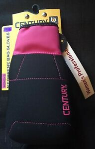Century Women's Brave Neoprene Bag Gloves Black/Pink