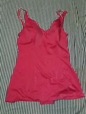 Vintage Women's One Piece Swimming Suit Size 18 Pink