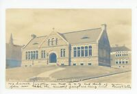 RPPC Morrill Memorial Library NORWOOD MA Rare Antique Photo UDB 1905