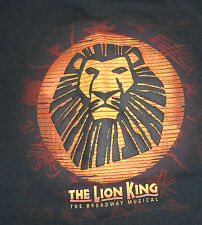 The Lion King - The Broadway Musical Black 2004/5 Tour T-Shirt - Size XLarge
