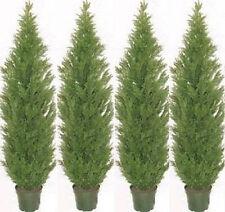 4 CEDAR OUTDOOR TREE 7ft TOPIARY UV PLANT ARTIFICIAL BUSH CYPRESS PINE EVERGREEN
