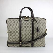 Gucci Men's Beige/Ebony GG Coated Canvas Briefcase 201480 FCIEG 9643