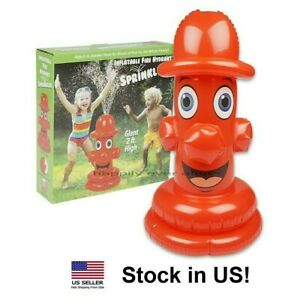 Inflatable Fire Hydrant Sprinkler - Hooks up to any garden hose, For All Ages