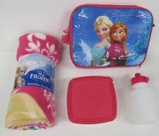 Frozen Elsa Anna Set de Regalo Cumpleaños Navidad Disney Manta Bolsa De Almuerzo