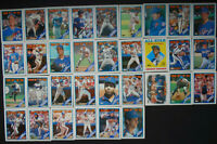 1988 Topps New York Mets Team Set of 35 Baseball Cards With Traded