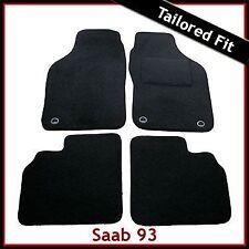 Saab 9-3 93 Convertible Mk1 1998-2003 Tailored Carpet Car Floor Mats BLACK