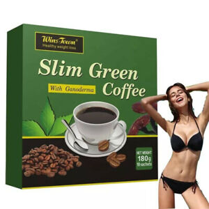 18 Teabags Slim Green Coffee with Ganoderma Control Weight Detox Tea Weight Loss