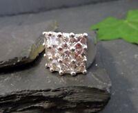 Gigantischer 925 Silber Ring TS Thomas Sabo Zirkonia Breit Kubus Designer Modern
