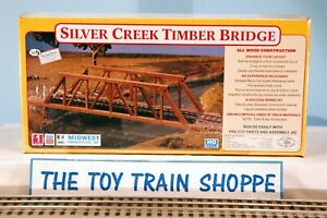 MIDWEST PRODUCTS 3050 SILVER CREEK TIMBER BRIDGE. ALL WOOD. NEW IN SEALED BOX.