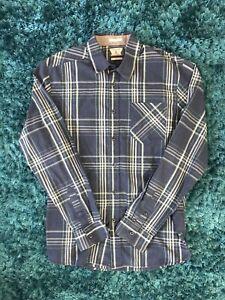 Volcom Blue Button Up Shirt, Size Medium.