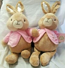 Beatrix Potter Peter Rabbit Flopsy bunny Plush Stuffed lot of 2 Animal medium
