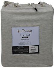 Bas Phillips Ultra Soft Jersey Sheet Set, Like your favourite T-shirt | Oatmeal