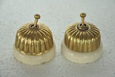 2 Pc Vintage Melon Shape Handcrafted Big Ceramic Electric Switches