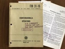 FM 31-16 (1967) COUNTERGUERRILLA OPERATIONS Army 260th Military Police Vintage