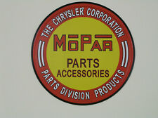 Mopar Parts Sign, Red/Yellow, #MOPAR383