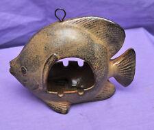 Vintage 1960s Mid Century Modern Hanging Ashtray Green Ceramic Fish