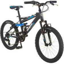 "20"" Mongoose Ledge Kids Mountain Bike 7 Speed Aluminum Full Suspension Bicycle"