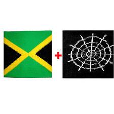 Paar manschetten Jamaika + spinnennetz in schwamm gruppen rock und flags