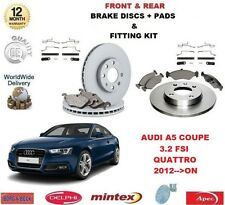 para AUDI A5 Coupe Quattro 3.2 FSI 2012>En delantero + DISCOS DE FRENO TRASERO &