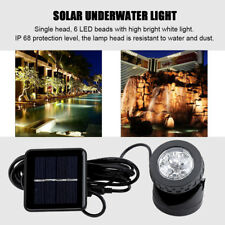 Solar Power Spotlights W/ 1 Underwater Lights Outdoor Garden Pond Pool Lighting