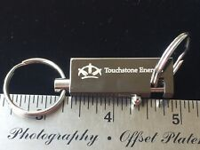 Vintage Touchstone Energy Keyring Key Fob White And Silver With Box NOS Adsco