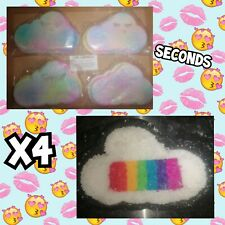 🌈 4 x Cloud Bath Bomb (SECONDS) ☁️ Rainbow Effect Snow Fairy - Fun KIDS (lot 2)